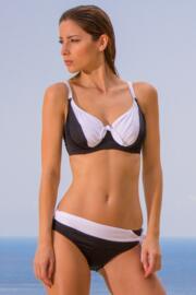 Bahamas Tie Belt Brief - Black/White