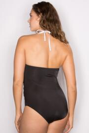 Bahamas Neck Ring Control Suit - Black/White