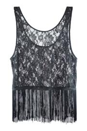 All About The Lace Top - Black