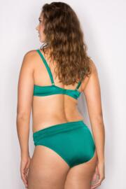 Azure Fold Over Ruched Brief - Emerald