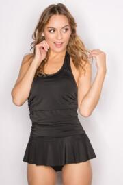 LBS Skirted Swimsuit  - Black