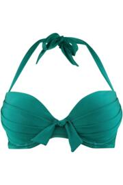 Azure Padded Underwired Clasp Back Top - Emerald