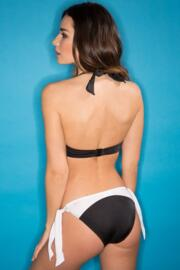 Bahamas Tie Side Brief - Black/White