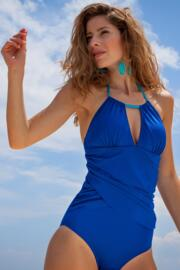 Bahamas Neck Ring Control Swimsuit - Blue/Aqua