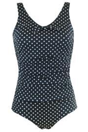Hot Spots Control Swimsuit  - Black/White