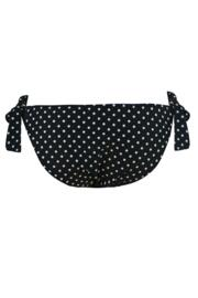 Hot Spots Tie Side Bottom - Black/White