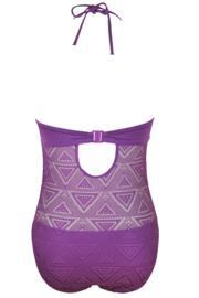 Bora Bora Padded Underwired Swimsuit - Purple