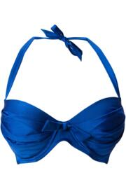 Azure Lightly Padded Underwired Clasp Back Top - Deep Blue