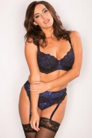 Amour Non Padded Bra - Black/Blue