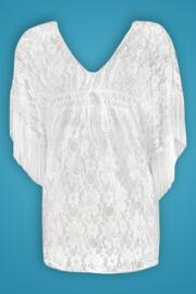 All About The Lace Kaftan - White