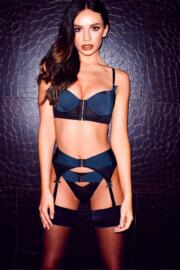Hook Up Underwired Bra - Black/Navy