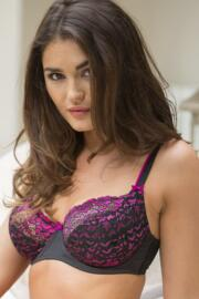 Fever Underwired Bra - Black/Rose