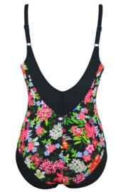 Black Multi Control Swimsuit - Black/Multi