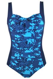 Graphic Control Swimsuit  - Blue Multi