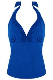 Mesh it Up Underwired Tankini Top - Ultramarine