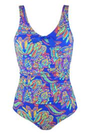 Amalfi Control Swimsuit  - Blue