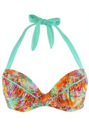 Santorini Padded Halter Underwired Top - Multi