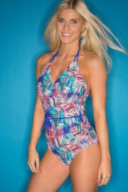 Aruba Underwired Control Swimsuit  - Blue Multi